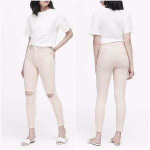 Banana Republic High Rise Skinny Jeans Pink 28
